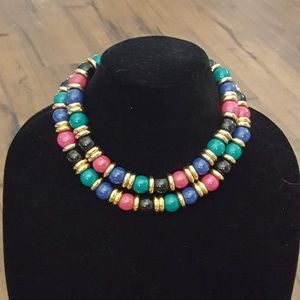 Vintage - Multi Color Stone Necklace 1970's